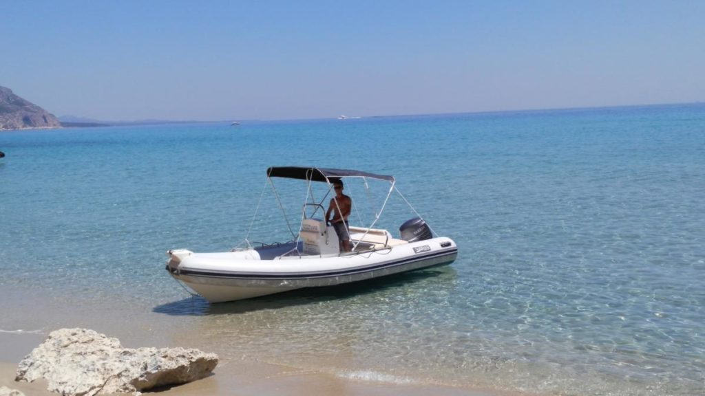 Dinghy for rent in Cala Gonone, Golfo di Orosei, Sardinia